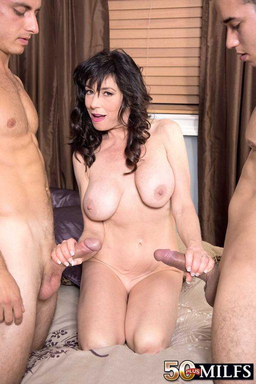 Dirty Cougar MILF Having Two Huge Dicks For Fuck