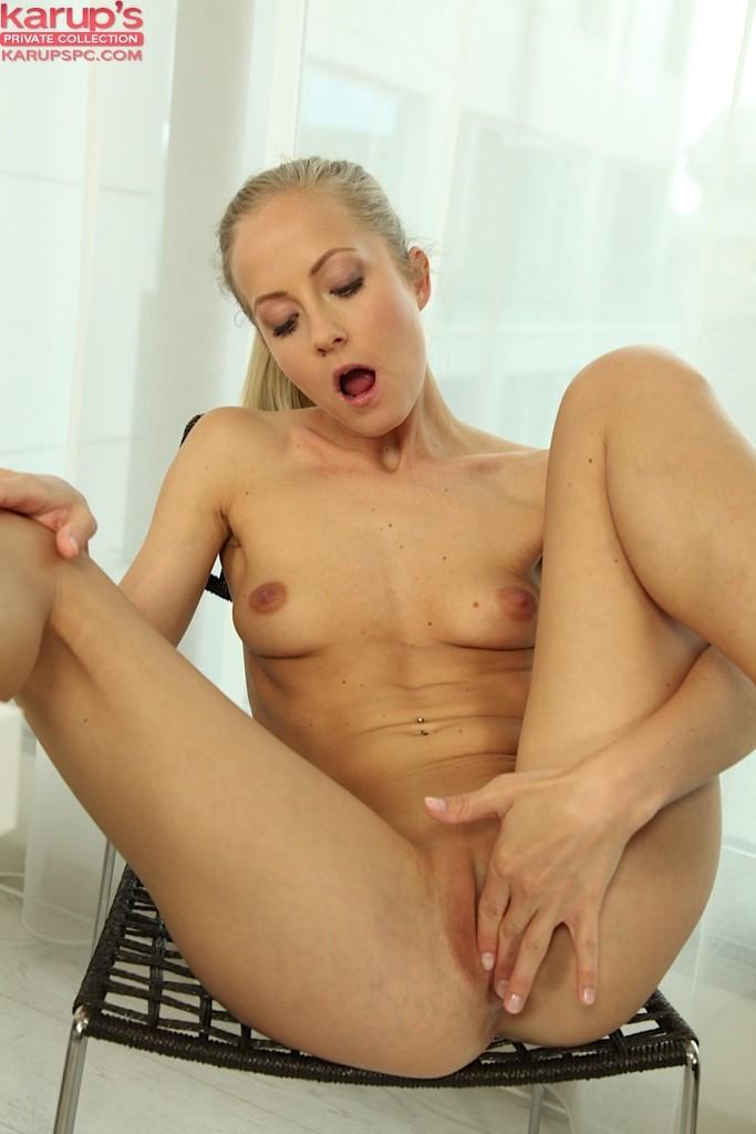 ... naked Marie Silvia natural masturbation