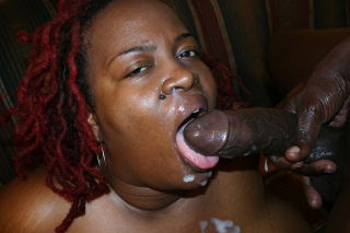 Big Ebony Mama Craving Huge Black Cock To FuckSuck