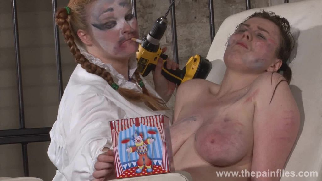 Bizarre lesbian humiliation and tool torture of sw