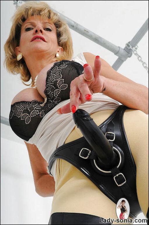 Mature cutie Lady Sonia reveals her big tits in a