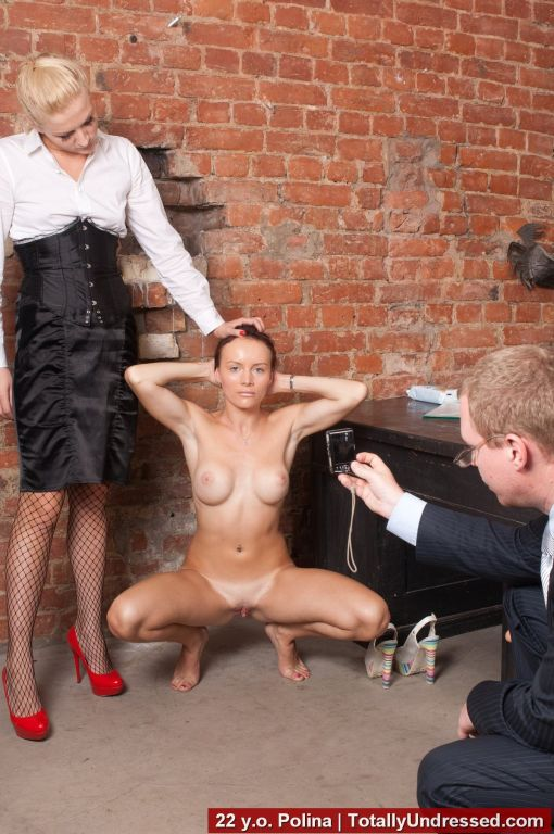 Dressed HR domination and nude secretary obedience