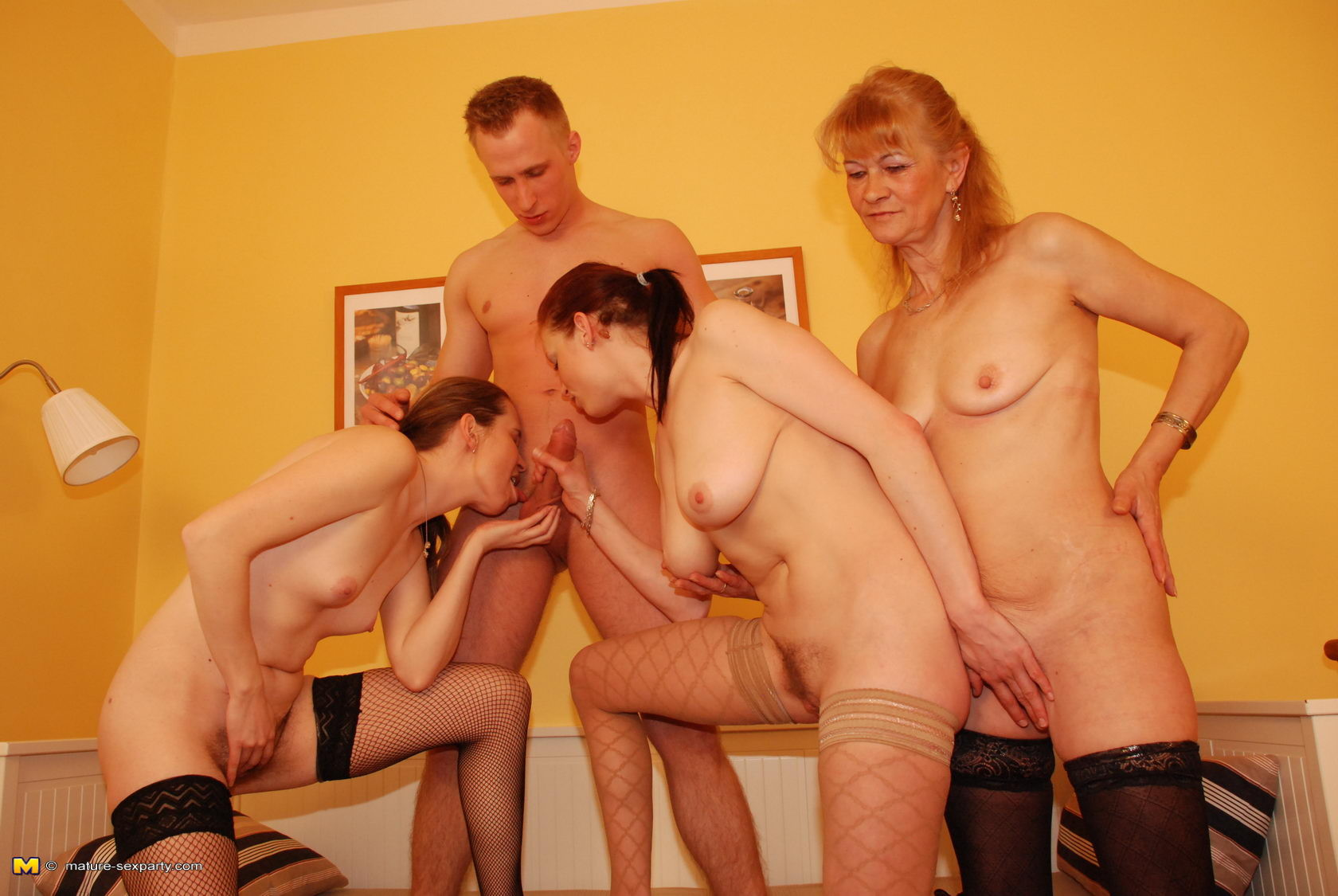 Mature party sex