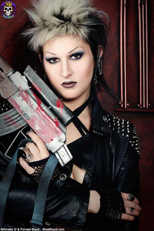Gothic Cyberpunk Wastelad Warrior Babe Alley Shive