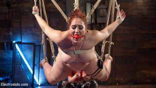Mona Wales dominates hot BBW w/ spanking, suspensi