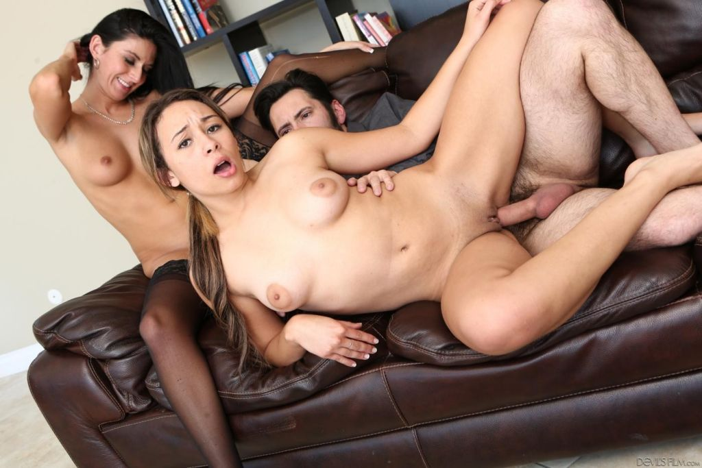Nikki Daniels is riding the hard dick while slutty