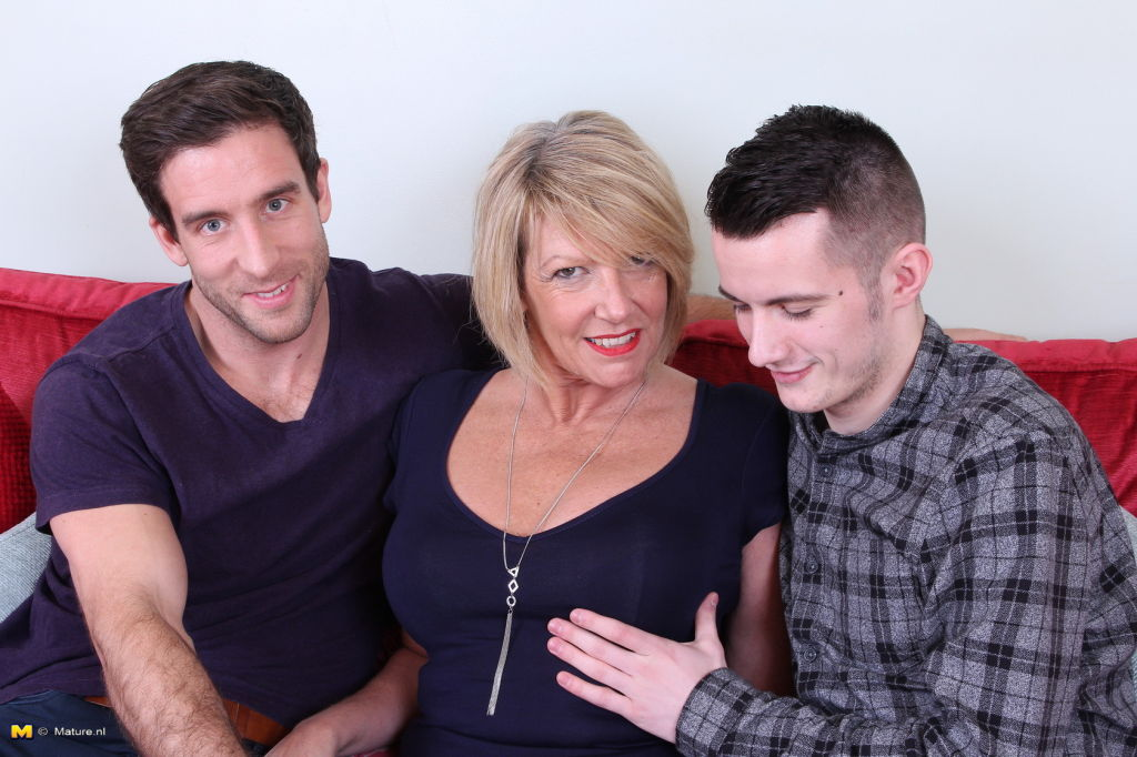 Hot and steamy British mature threesome