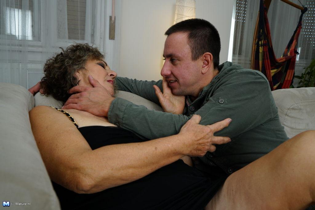 Horny Toy boy doing a naughty mature slut