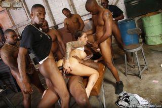 Juelz Ventura in interracial anal bang on bigcocks