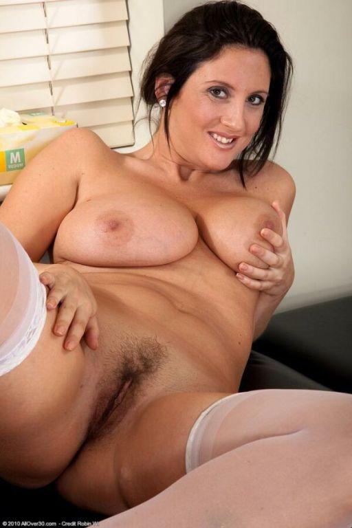 Jenny Badeau busty milf nurse in white stockings s
