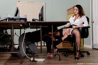 Dillion Harper and Damon Dice work at a call cente