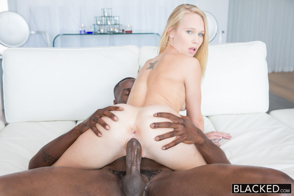 Blonde Teen Dakota James first experience with big