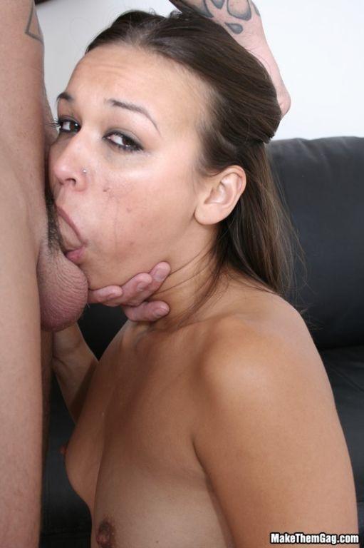 Teen babe Crissy Moon Sucking big cock and choking