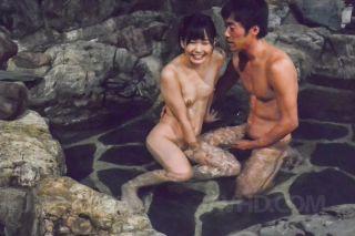 Yui Kasugano Asian sucks dick and has cunt fingere