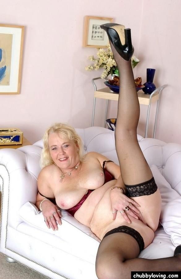 Mature Blonde Milf Stockings
