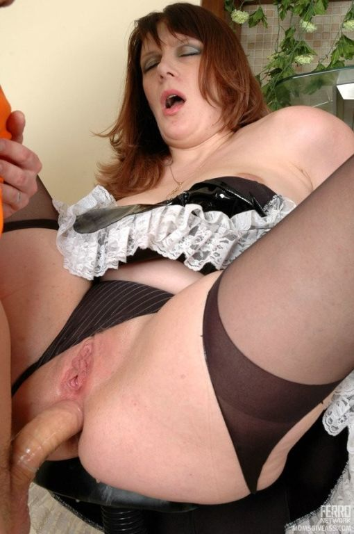 Mature maid with yummy ass cheeks going for some o