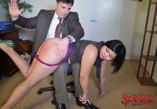 Schoolgirl Koko Kitten gets spanked by strict teac