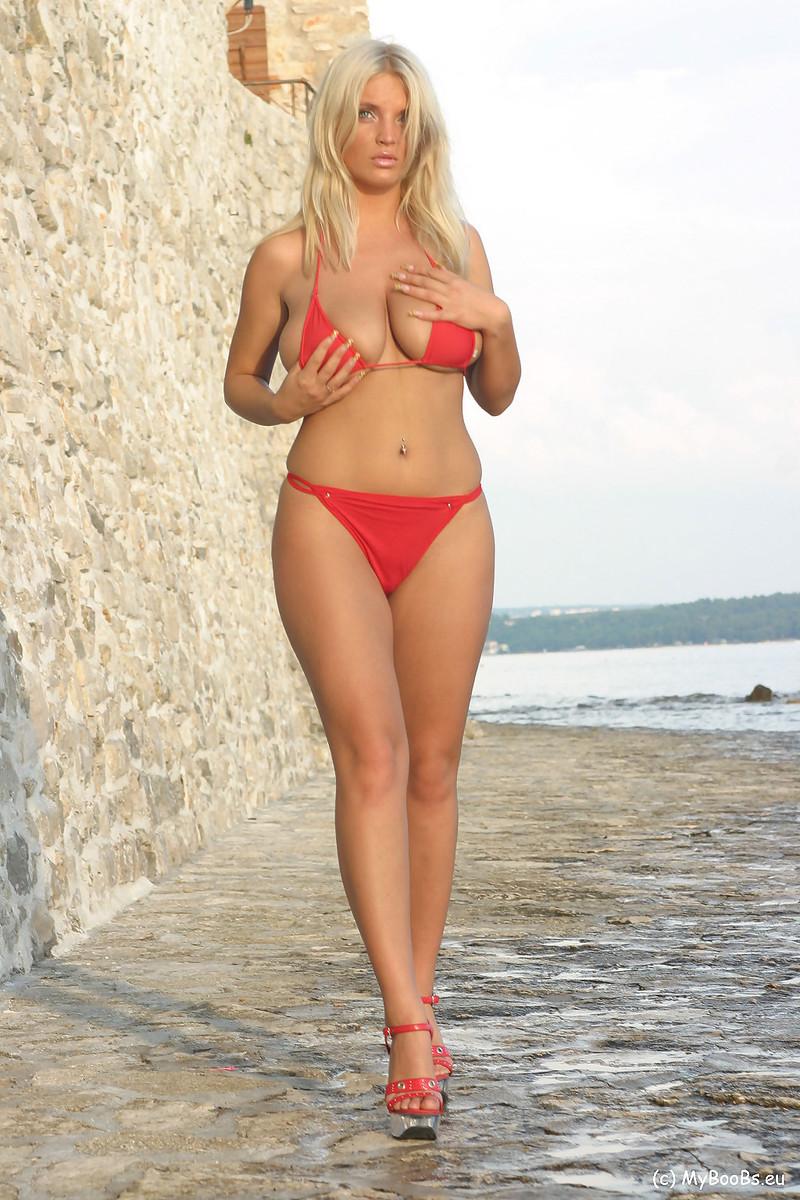 Ines cudna blue bikini seems