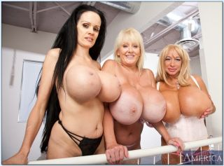 Three mature hotties revealing chubby juggs and ti