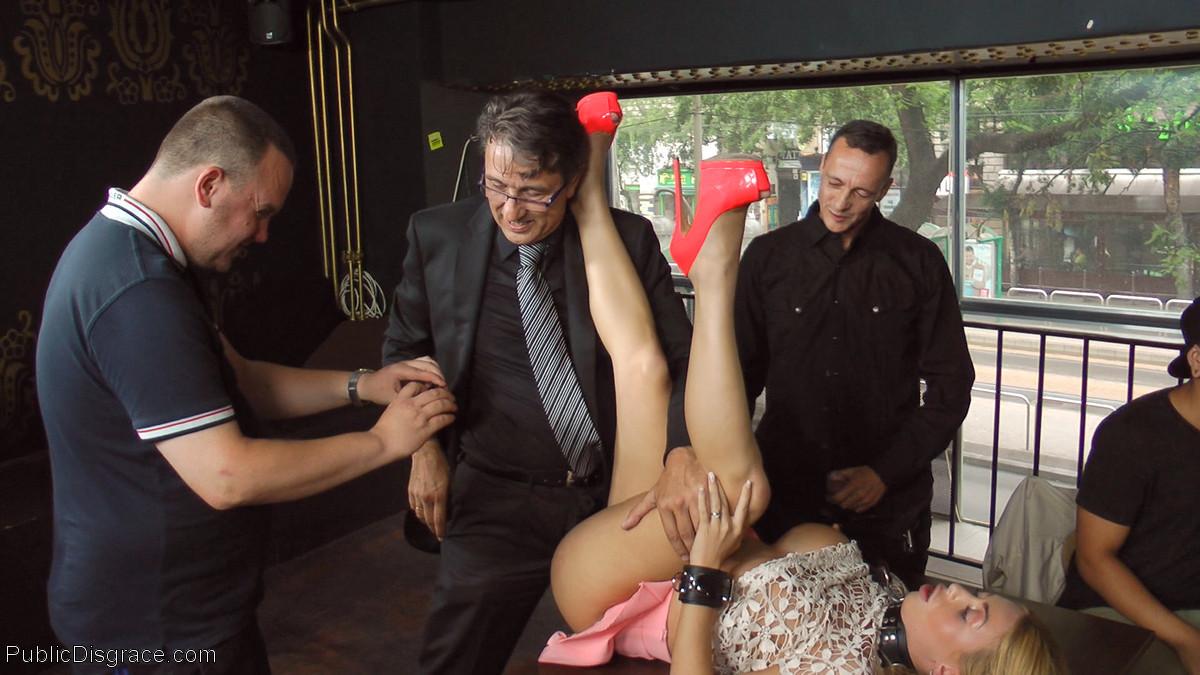 Big Frank Porn - True whore takes it all for the public: Corporal Punishment ...