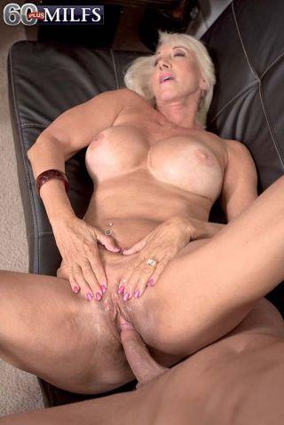 Busty 60Cougar Slut Madison Milstar Drilling Her P