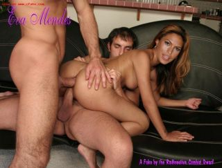 Celebrity Eva Mendes fucked like a real slut in fa