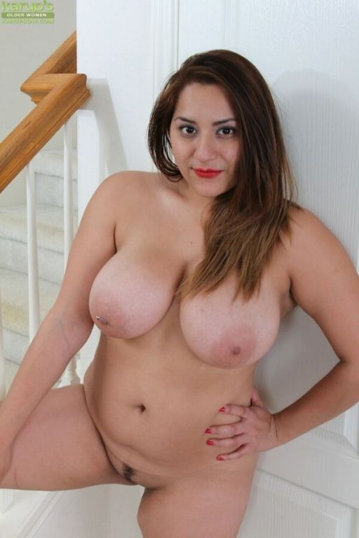Cece Giovanni with the massive boobs poses nude