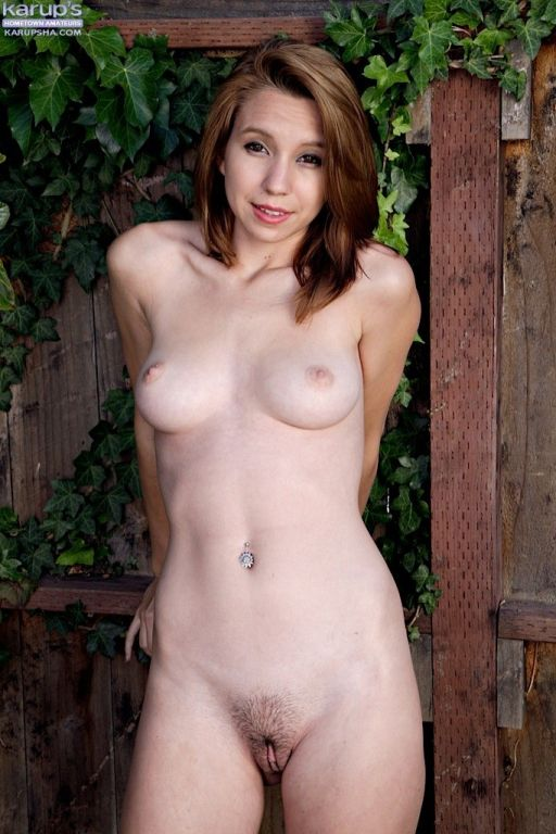 Super cute coed Cece Capella naked outdoors