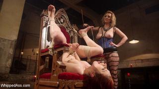 Violet Monroe endures bondage, flogging, caning, f