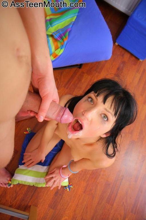 Brunette teen Ingrid Lips getting her ass rammed b