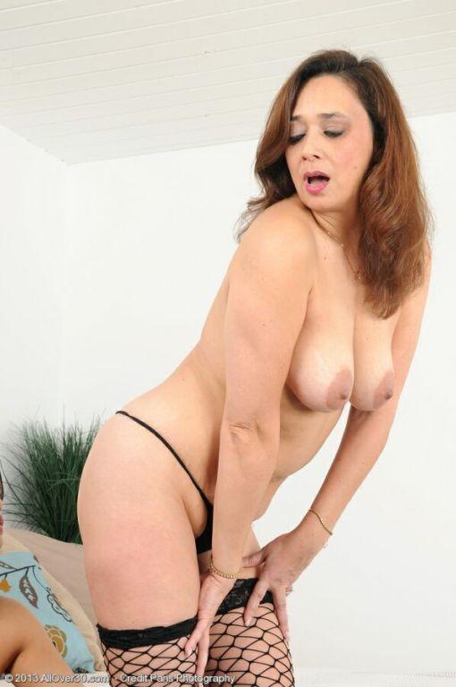 Alesia Pleasure  Lucy Page milf lesbians in stocki