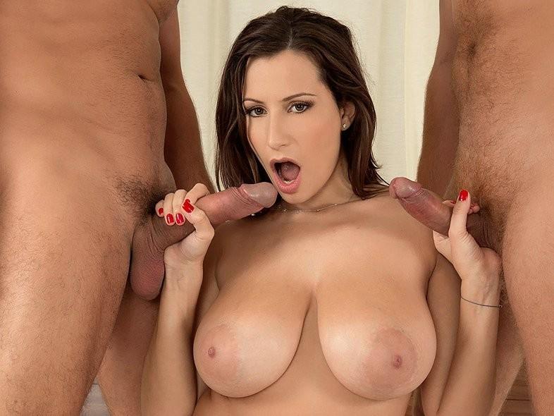 College Big Tits Threesome
