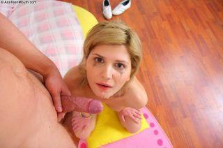 Blonde teen Taya Fedora getting her asshole and mo