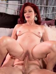 Busty 50milf Dana Devereaux drilling her pussy wit