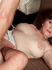 Busty older milf Bea Cummins having hard anal sex