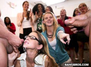 Office girls got mad crazy sucking dicks