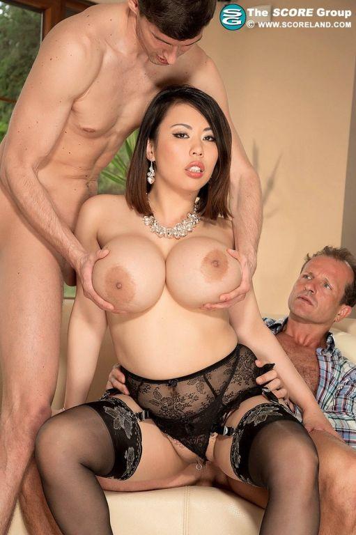 Gorgeous big tits Asian slut Tigerr craving two co