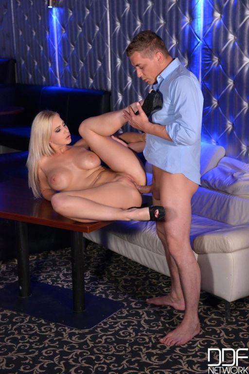 Busty stripper loves anal sex