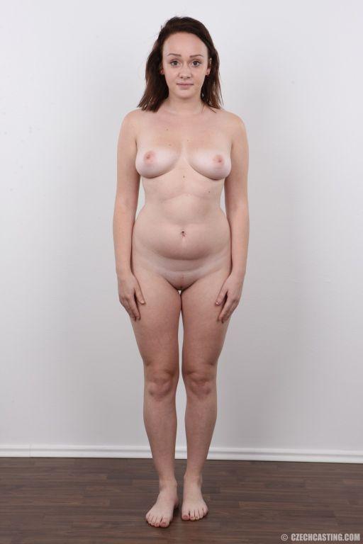 Amateur brunette girl poses nude