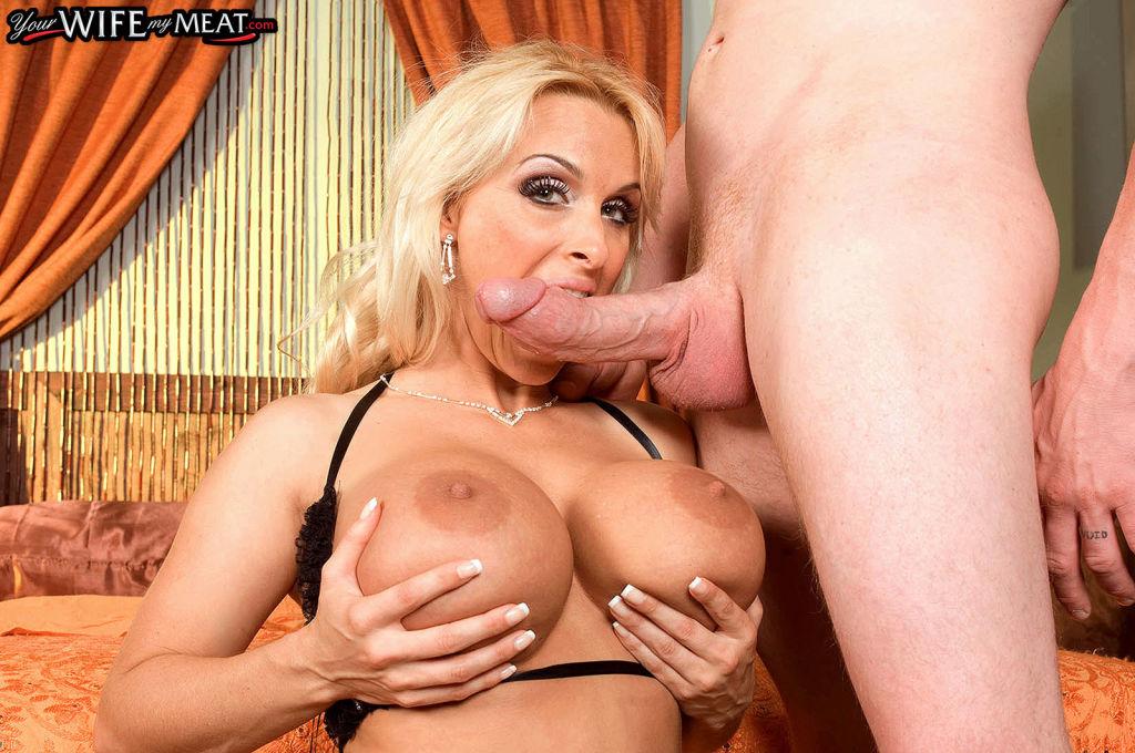 Blonde Wife Holly Halston