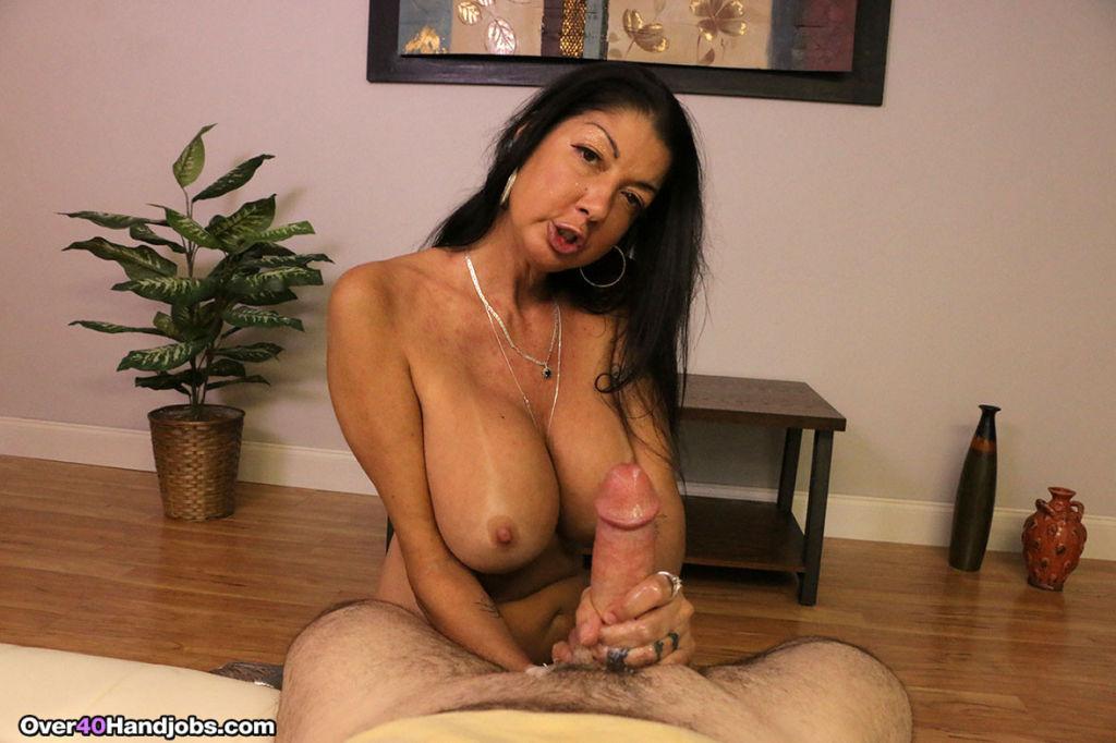 Dirty milf whore Nadia Night milking stiff dick fo