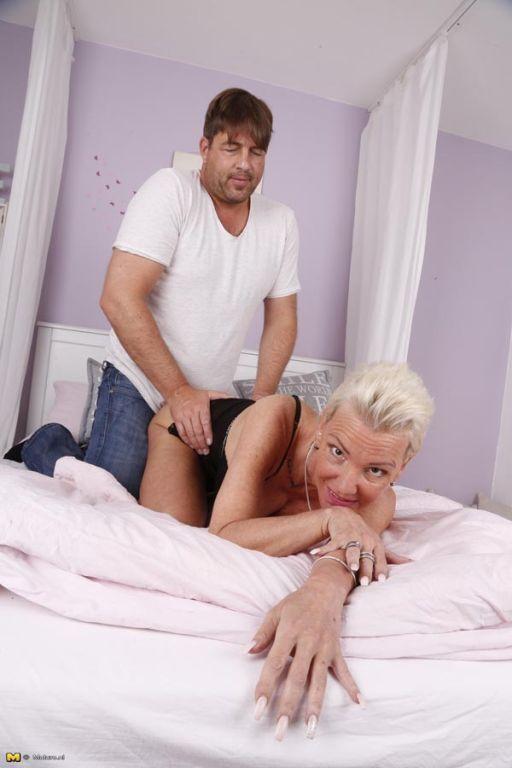 Kinky German housewife sucks big cock and gets fuc