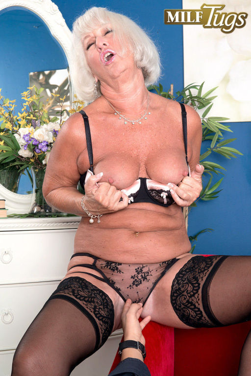 Grandma Jeannie Lou sucks a 24 year olds cock
