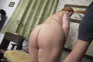 Chubby big breasted housewife Alex Woods getting i