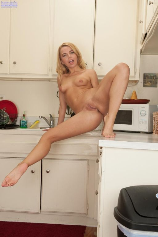 Appetizing blonde is hotly bending in rather sexy