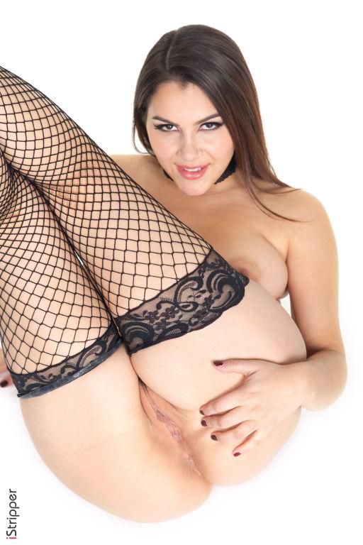 Hot big girl Valentina Nappi poses in lingerie