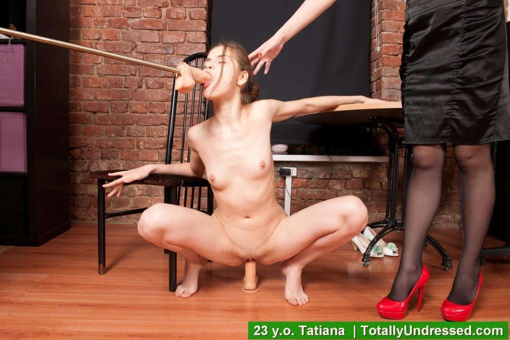 Kinky toy sex examination