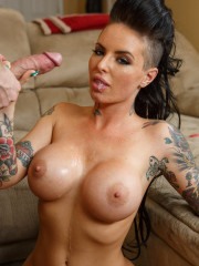 Tattooed anal slut takes huge cock from the backdo