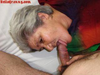 Horny granny woman