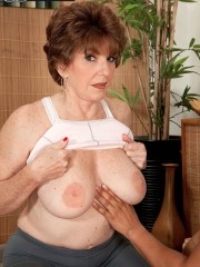 Horny granny Bea Cummins fucking stiff dick after